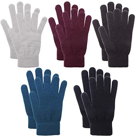 Winter Warm Kids Magic Glove Stretch Knitted Children