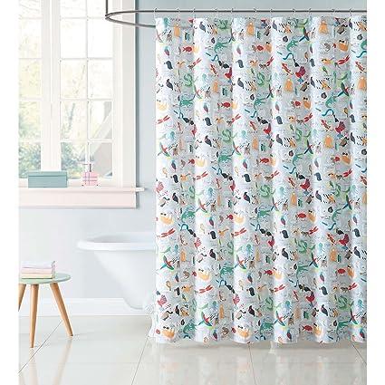 Amazon My World Shower Curtain Animal Alphabet Home Kitchen