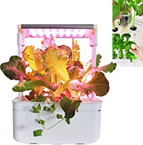 Hydroponics Growing System Indoor Herb Garden Starter Kit with LED Grow Light and timer self-watering Smart hydroponic gardening system for Herbs/Vegeies/Flower Smart Hydroponics Growing System
