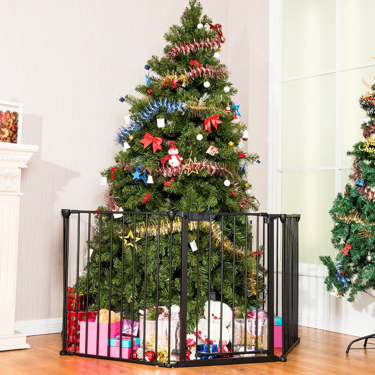 Baby Christmas Trees: Costzon Fireplace Fence Baby Safety Fence Hearth Gate BBQ