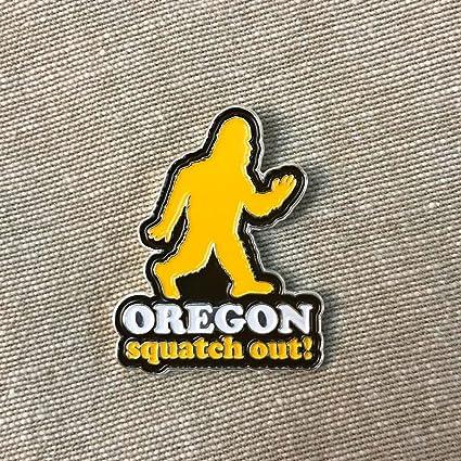 9f4b030786202d Amazon.com : Little Bay Root Squatch Out Oregon | Enamel Lapel Pin : Sports  & Outdoors