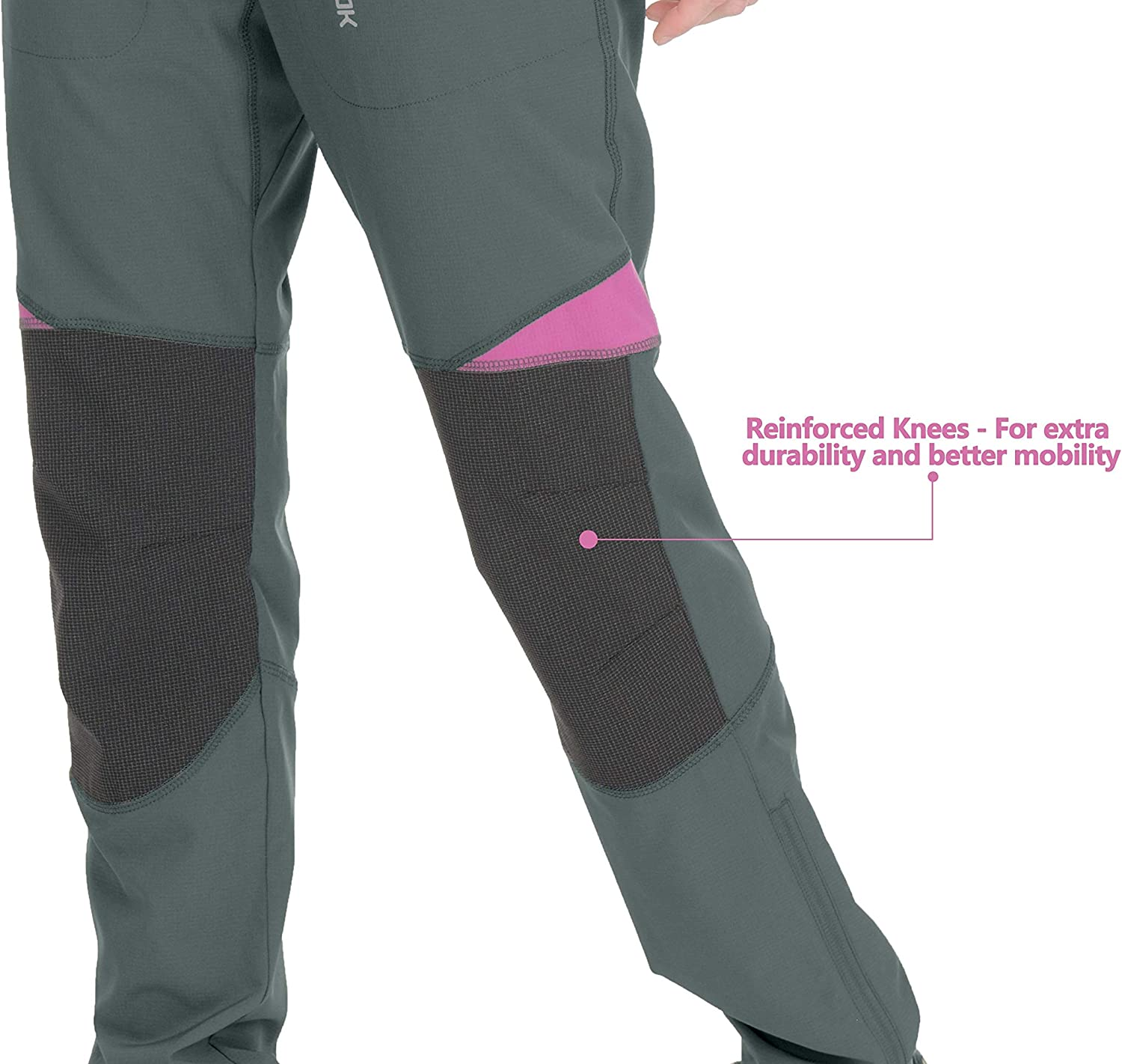 Little Donkey Andy Womens Lightweight Quick Dry Hiking Pants Reinforced Knees UPF 50 for Mountain Climbing Camping