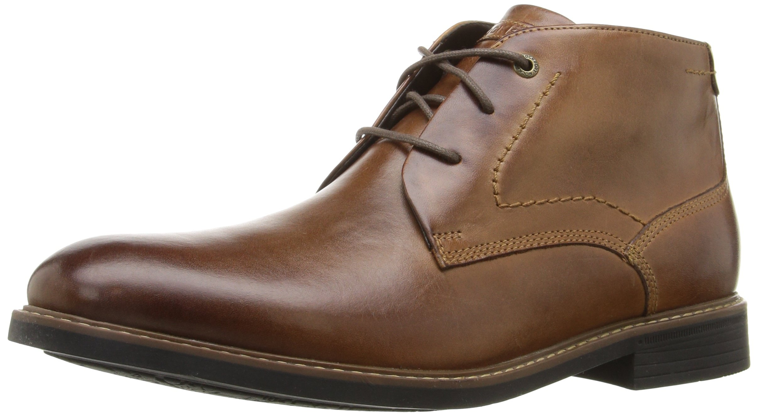 Rockport Men's Classic Break Chukka Boot- Dark Brown Leather-10 W by Rockport