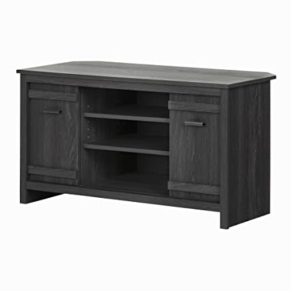 1b45023fdcd Amazon.com  South Shore Exhibit Corner TV Stand with Sliding Doors for TVs  up to 42