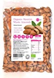 PINK SUN Organic Whole Almonds 1kg (or 2kg, 3kg, 5kg) Raw Natural Spanish Nuts Unsalted Whole Foods with Skins On Kernals Unpasteurised Unroasted Gluten Free Vegetarian Vegan Bio Bulk Buy 1000g