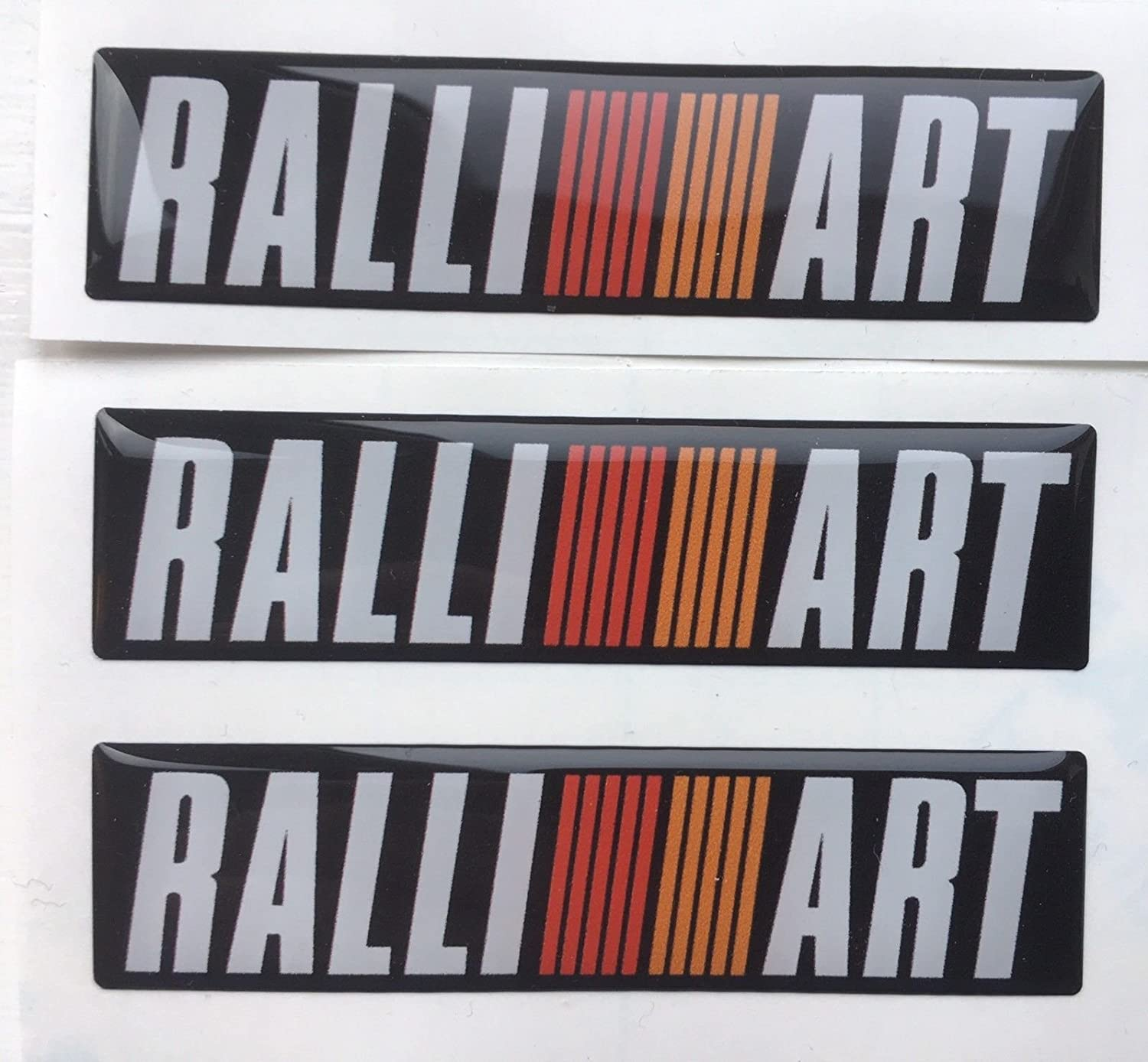 MITSUBISH RALLIART DOMED BADGES EVO X3 PARA WINGS Y BOOT DASHBOARD SPEEDO DENT HIDING