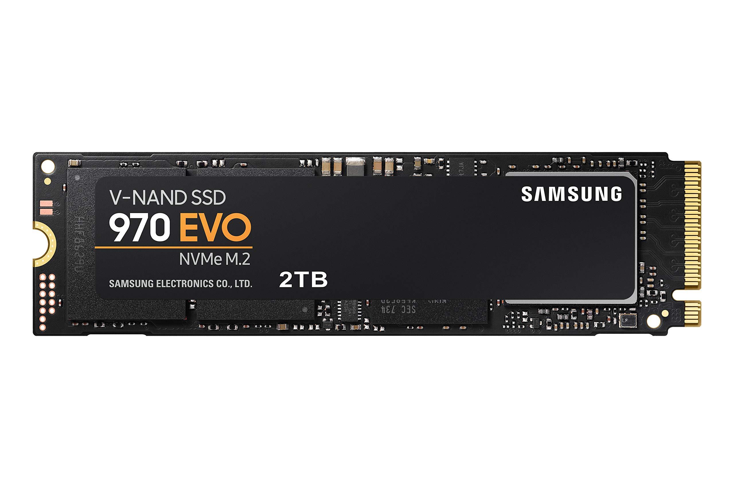 Samsung SSD 970 EVO 2TB - NVMe PCIe M.2 2280 SSD (MZ-V7E2T0BW) by Samsung (Image #1)
