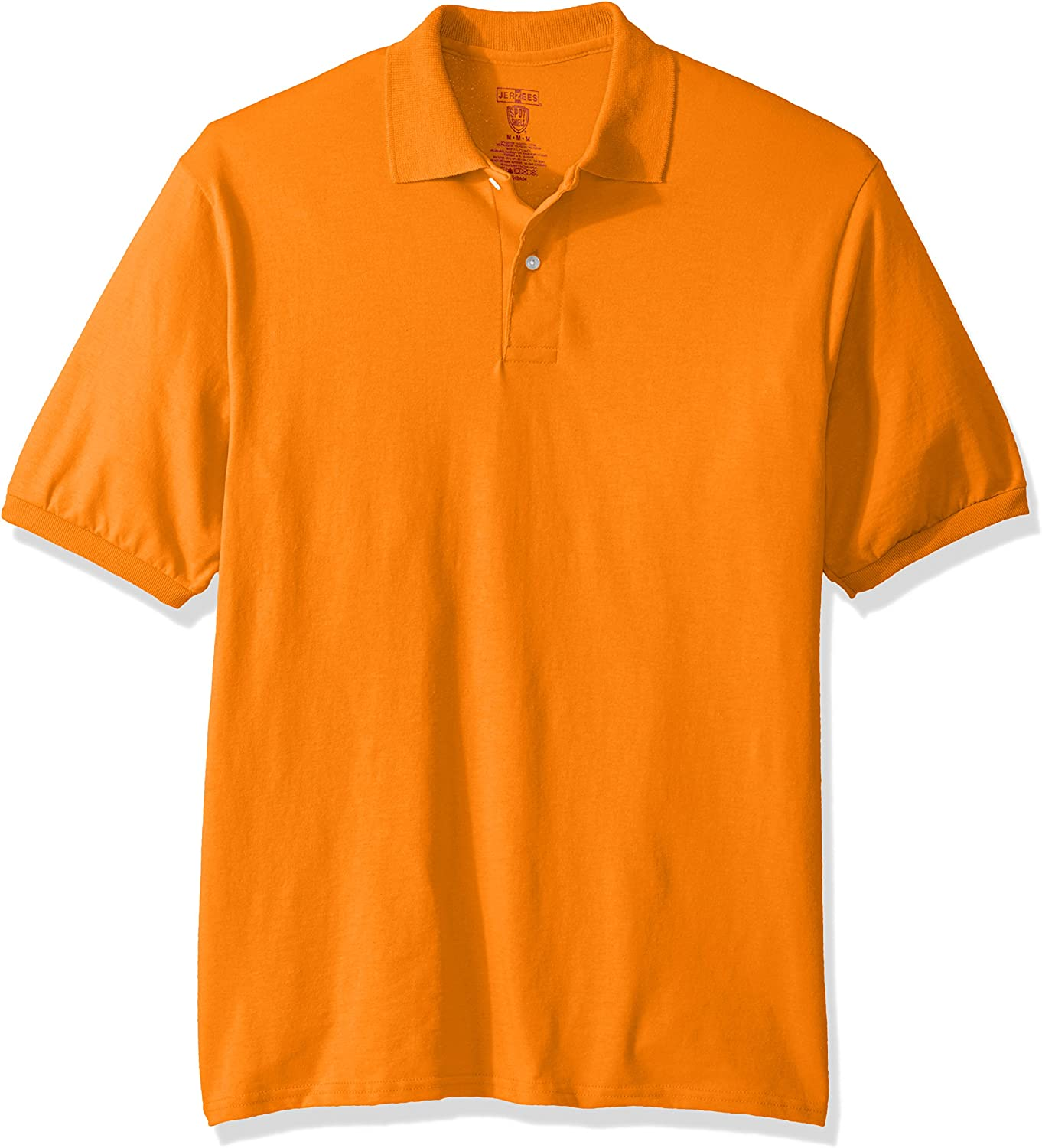 Jerzees MENS Polo Shirt with POCKET Cotton//Poly Blend with SPOTSHIELD S,M,L,XL