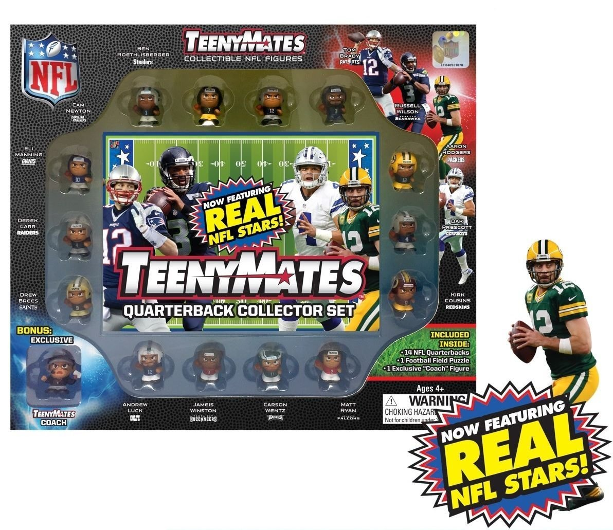 TeenyMates Collectible NFL Figures Quarterback Collector Gift Set - 14 NFL Quarterbacks by TeenyMates