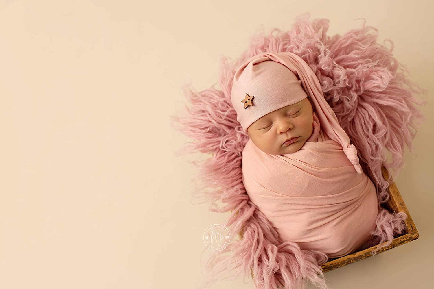 AMOS and SAWYER Knotted Sleeping Hat Newborn Photography Prop