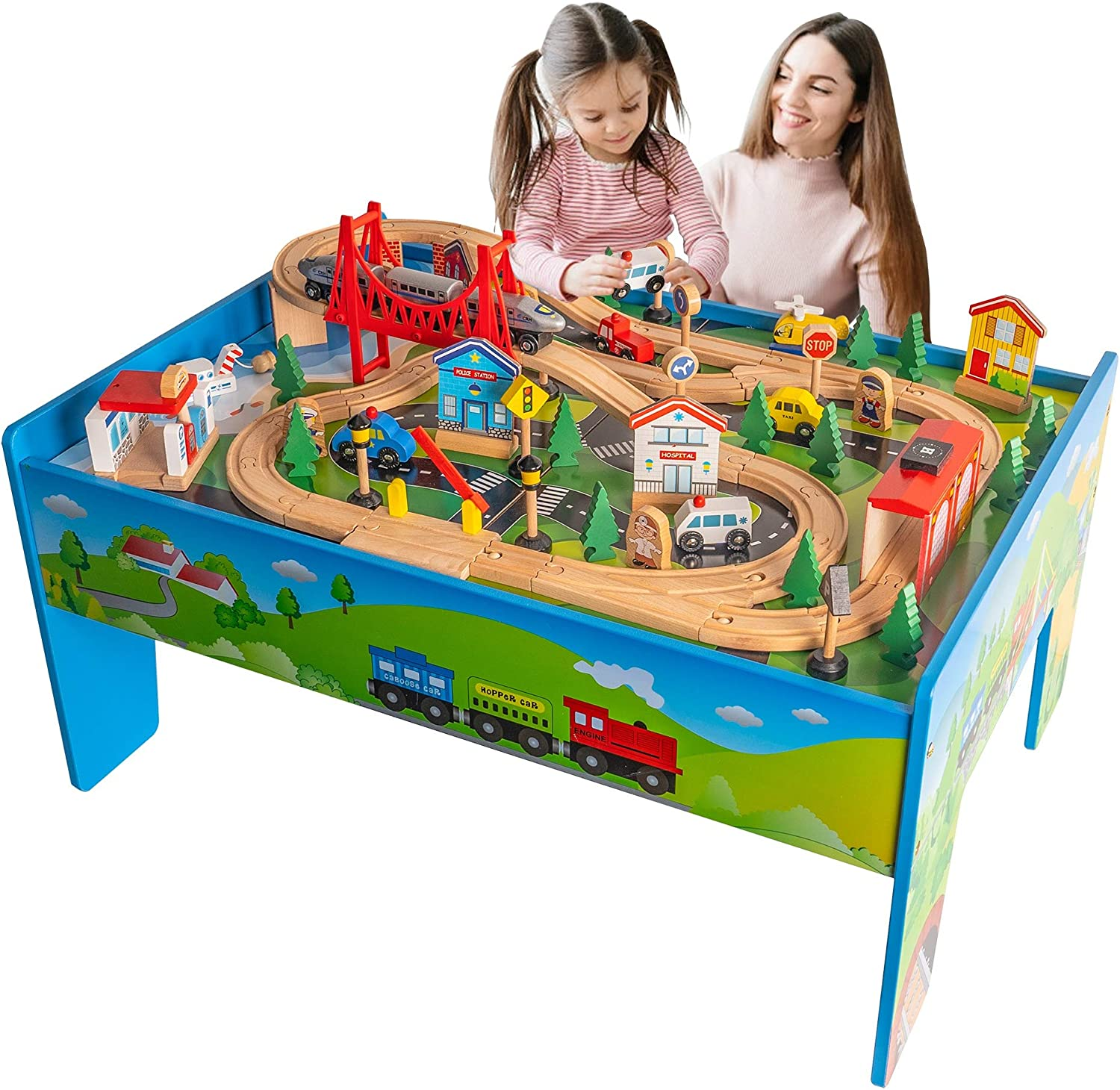 FUNPENY Train Table Sets for Kids Toddlers
