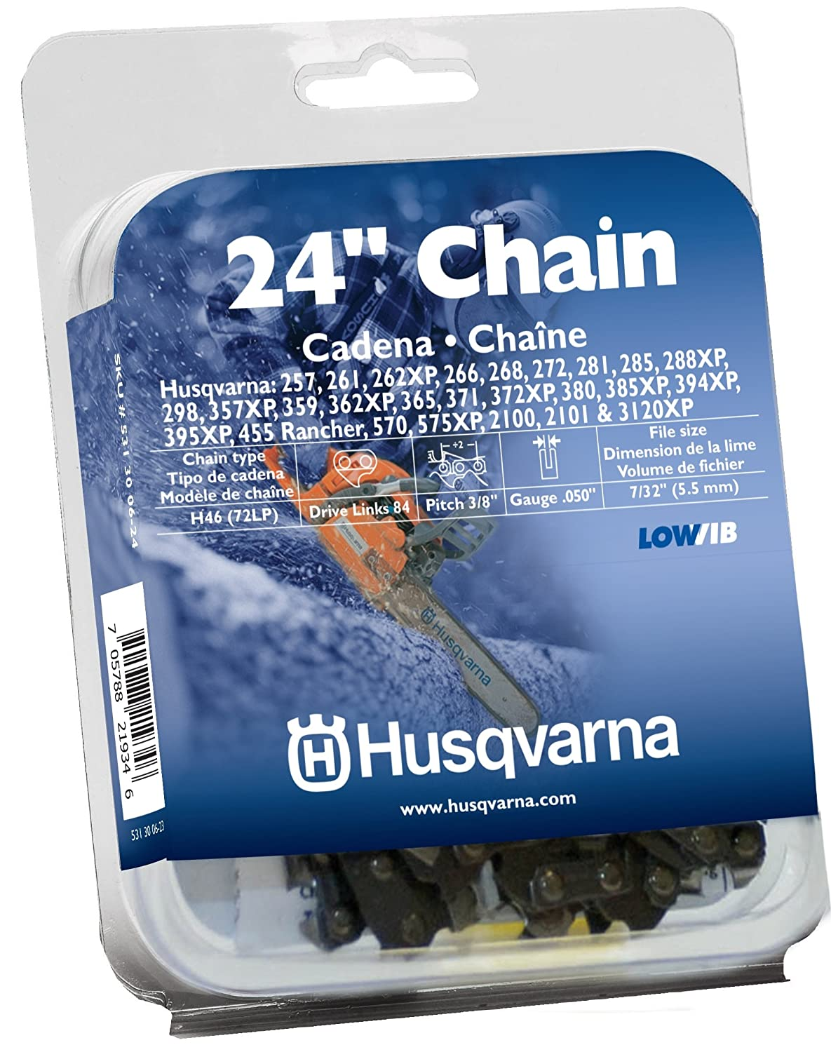 Amazon husqvarna h4684 0050 inch gauge saw replacement chain amazon husqvarna h4684 0050 inch gauge saw replacement chain 24 inch 38 inch pitch garden outdoor keyboard keysfo Images