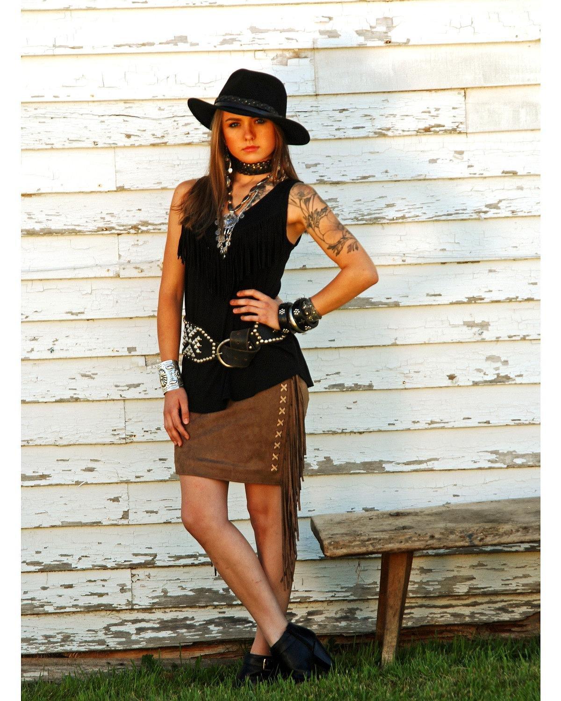 Tasha Polizzi Women's Valley Skirt Brown Small