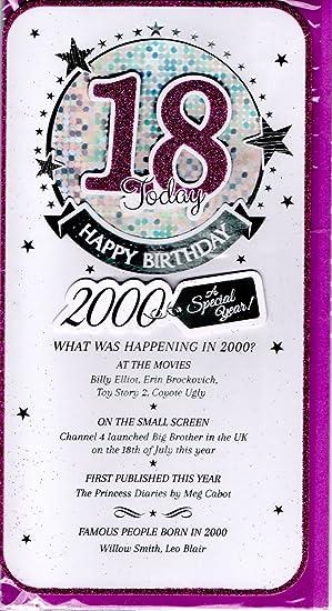 Lilac 18th Birthday Card