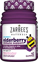Zarbee's Naturals Children's Elderberry Immune Support* with Vitamin C & Zinc,