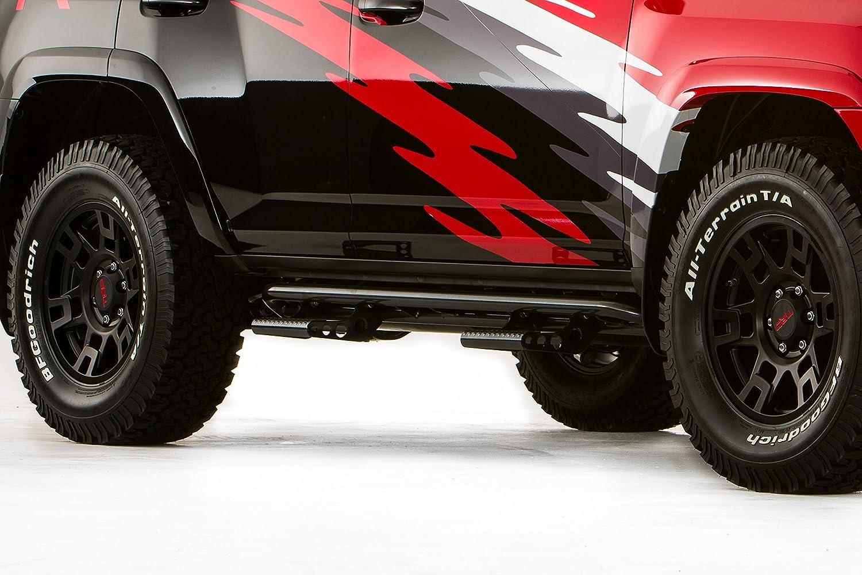 4 Door 10-18 N-FAB T104RKR4R Textured Black RKR Rails; Full Length Toyota 4 Runner TRAIL EDITION ONLY