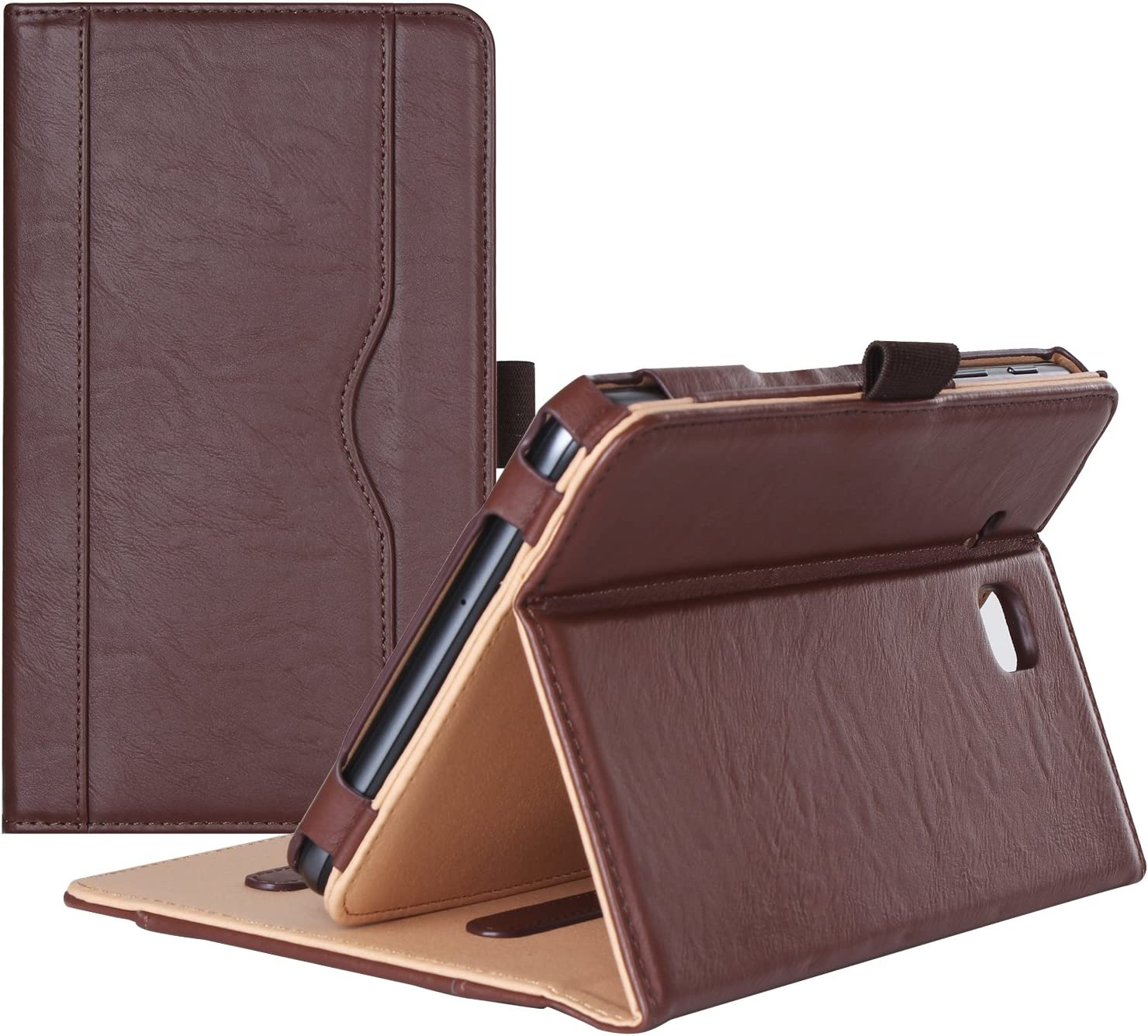 ProCase Galaxy Tab A 7.0 2016 Case T280 T285, Stand Folio Case Cover for Galaxy Tab A 7.0 SM-T280 SM-T285 Tablet, with Multiple Viewing Angles, Document Card Pocket (Brown)