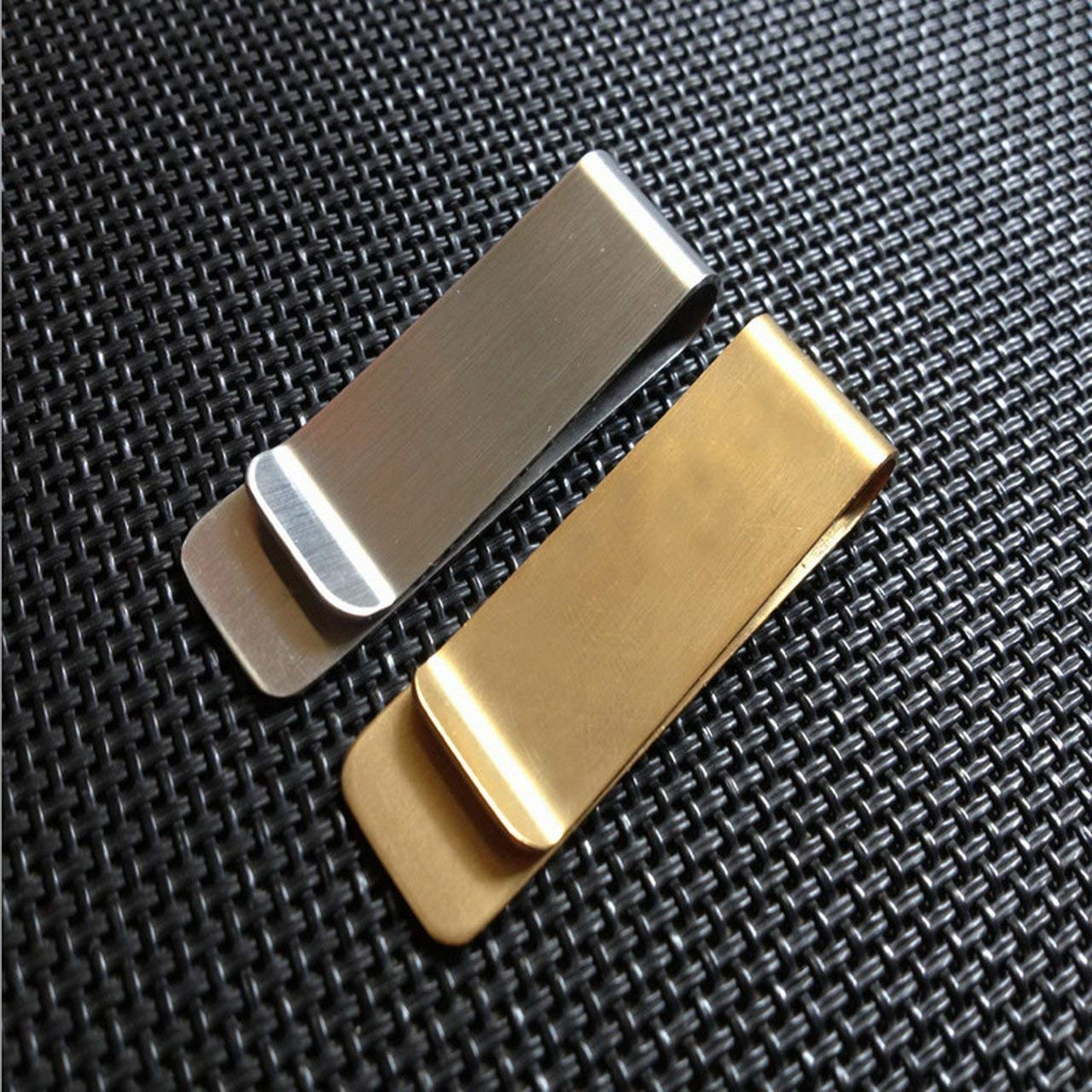 Romerofs Stainless Steel Metal Wallet Creative Banknote Clip Business Paper Clip