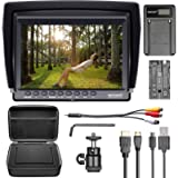 Neewer F100 Camera Field Monitor Kit:7 inches Ultra HD 1280x800 IPS Screen Field Monitor+F550 Replacement Battery+Micro…