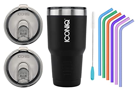 Amazon.com: Vaso portátil de acero inoxidable ICONIQ ...