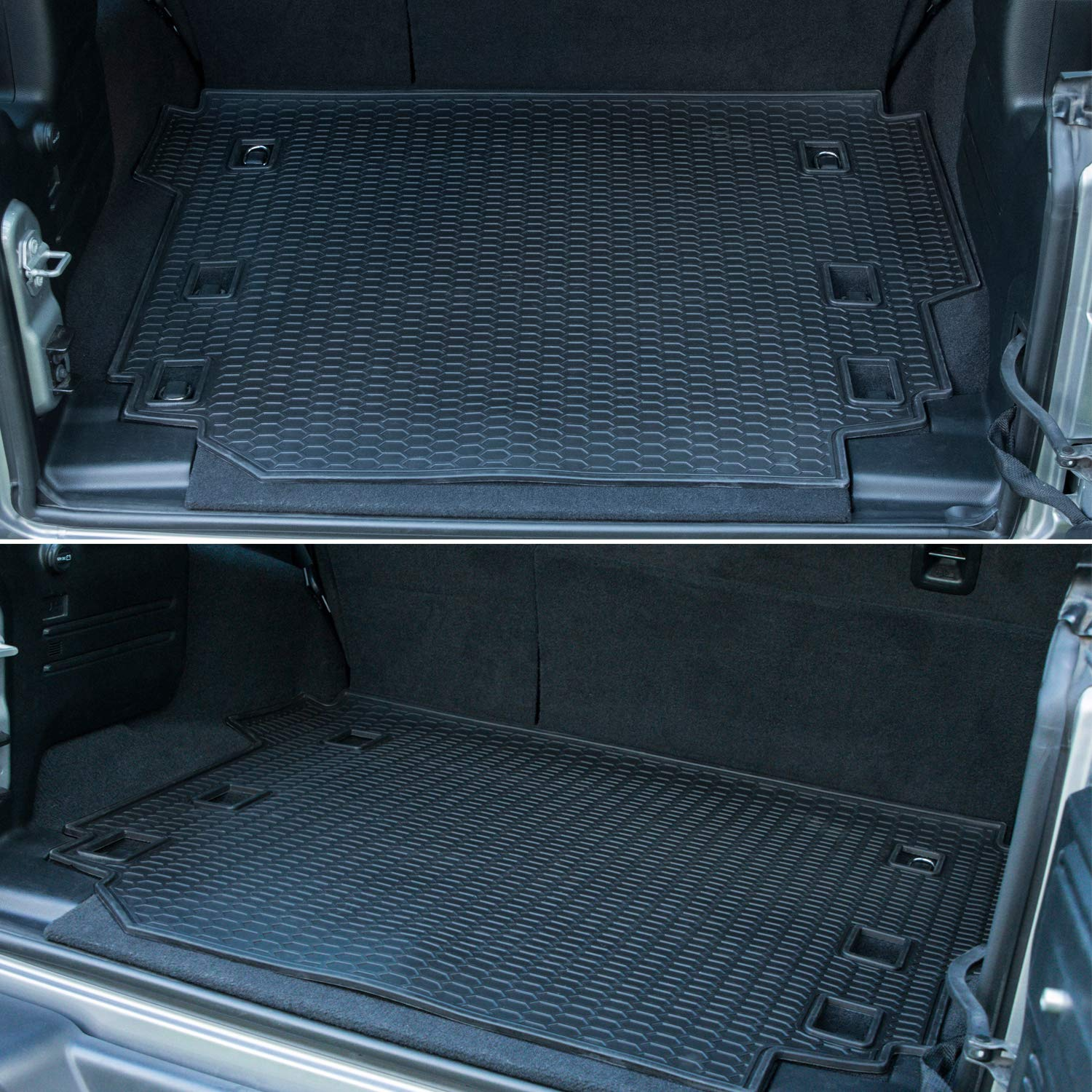 Environmentally Friendly Rubber Custom Fit Bonbo Trunk Cargo Liner Mat for Jeep Wrangler JL 2018 2019 2020 Unlimited 4 Doors Heavy Duty Odorless All Weather Guard