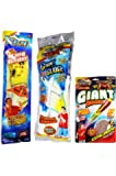 Outdoors Flying Bundle Combo with 1 Air Max Glider, 1 Giant Rocket and 1 Hang Glider. Colors may vary. Great birthday party favors. for boys and girls all ages. COLORS MAY VARY