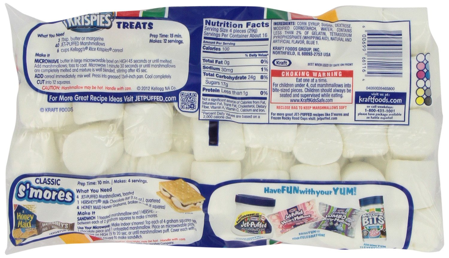 Jet Puffed Marshmallows, 16-Ounce Bags (Pack of 12)
