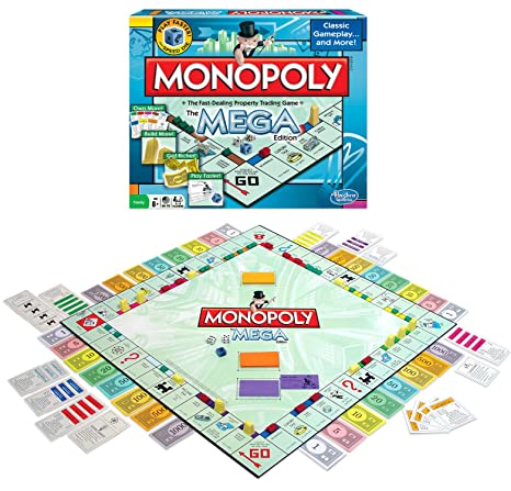 amazon com winning moves games monopoly the mega edition toys games rh amazon com Life-Size Monopoly Board Game Monopoly Board Game Box