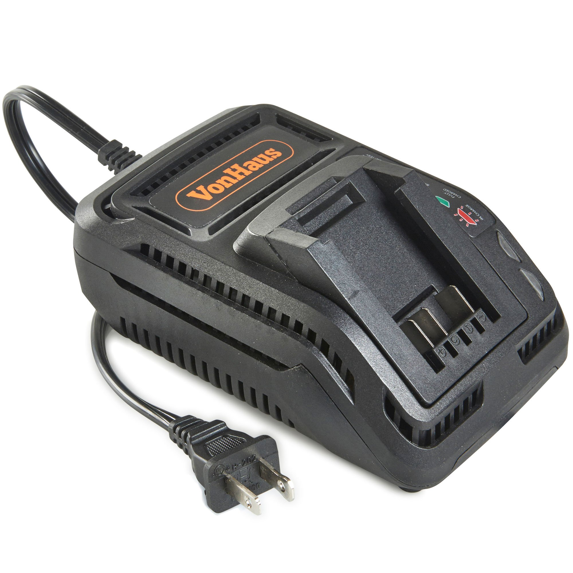 VonHaus 20V MAX 2.4A Fast Charger – Compatible with 3.0ah & 4.0ah Batteries for VonHaus 20V Max Max Lithium-ion D Series Tools (Charger Only)