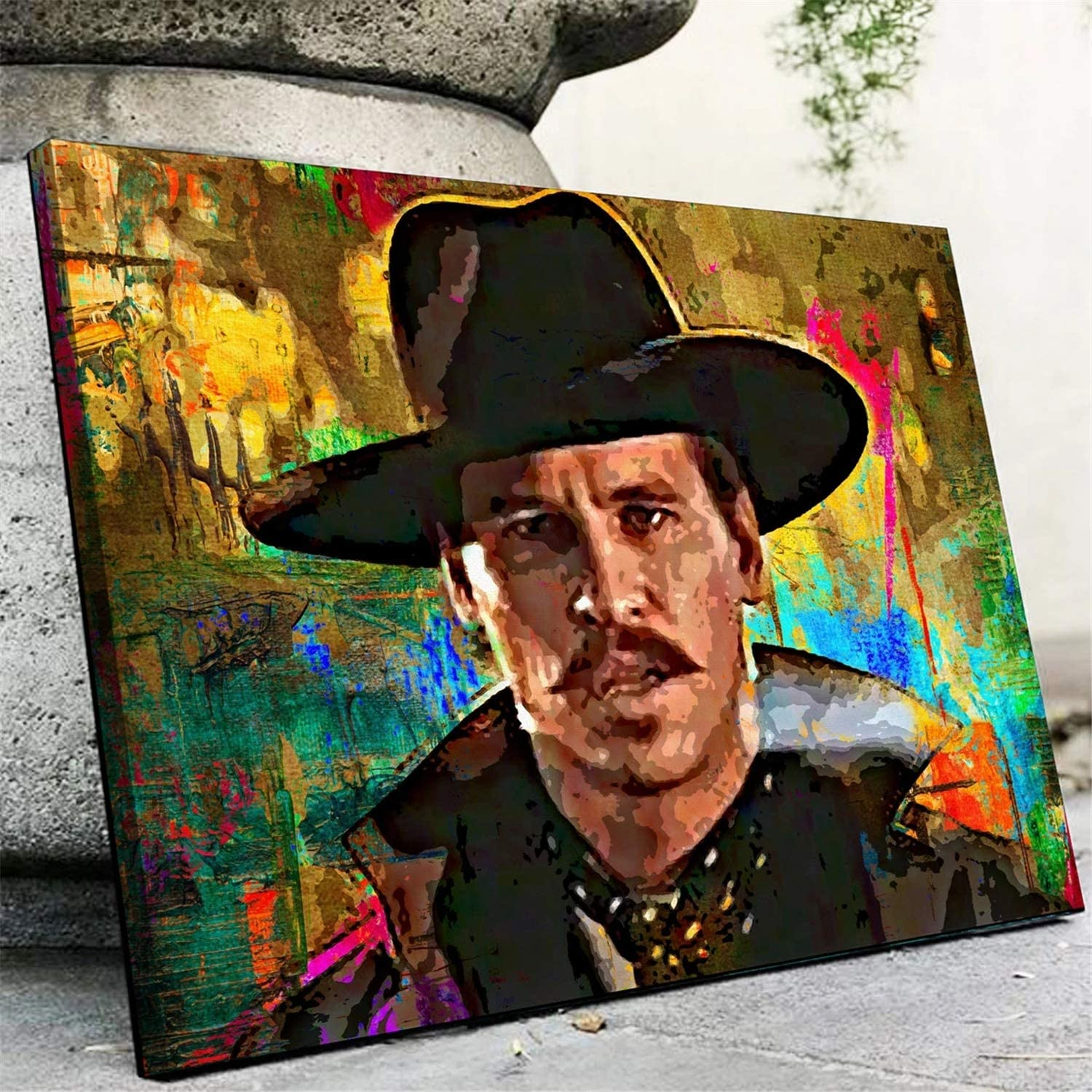 DOLUDO Canvas Art Prints Doc Holliday Poster Painting Wall Picture for Living Room Bedroom Home Decor No Frame 24x32inch