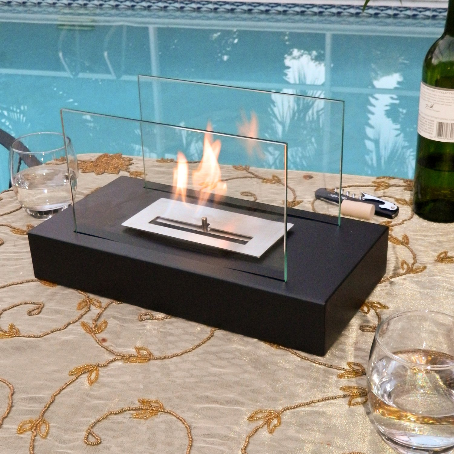 amazon com nu flame incendio tabletop ethanol fireplace indoor