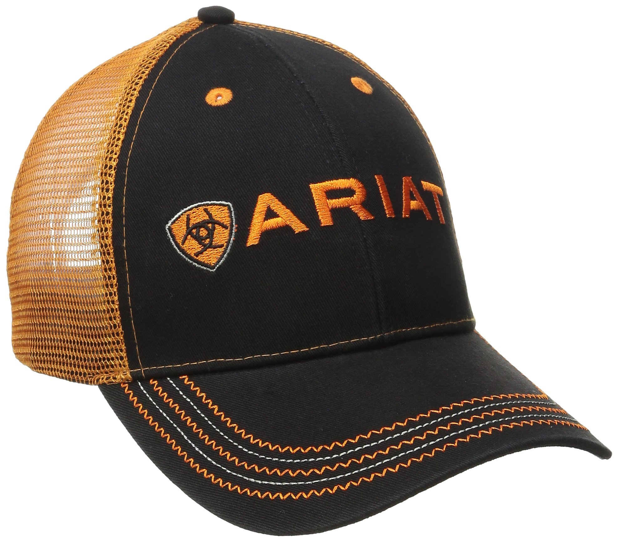 Ariat Men's Orange Mesh Hat, Orange, One Size