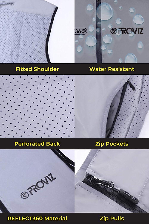 Proviz Men's Reflect360 Reflective & Windproof Performance Cycling Vest at  Men's Clothing store