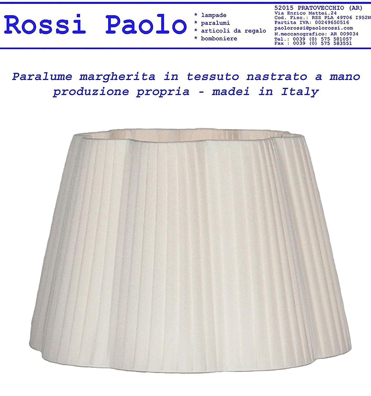 Paralume modello margherita in tessuto nastrato a mano - produzione propria - made in Italy (cinese d 25) Paolo Rossi pr-marnastr-d25