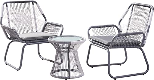 Christopher Knight Home 305233 Aiden Outdoor 3 Piece Wicker Chat Set