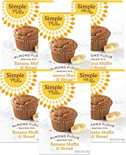 product image for Simple Mills Almond Flour Baking Mix, Gluten Free Banana Bread Mix, Muffin Pan Ready, Made with whole foods, 6 Count (Packaging May Vary)
