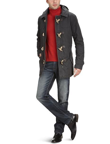 Selected - Abrigo con capucha de manga larga para hombre, talla 50, color negro