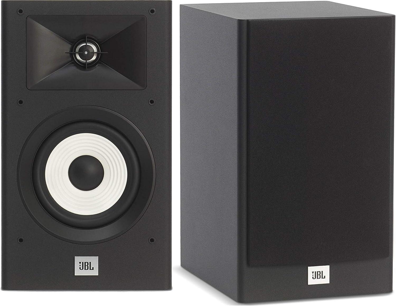 "JBL 2-Way 5.25"" POLYCELLULOSE Woofer, 1"" Aluminum-Dome Tweeter Home Audio Bookshelf Loudspeakers (Pair, Black)"