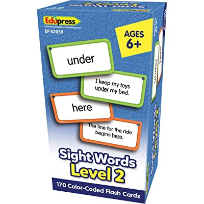 Teacher Created Resources Sight Words Flash Cards - Level 2 (EP62059): Office Products