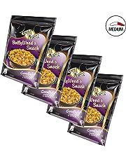 4x BollyWoods Snack Cornflakes Mix Dulce y Picante por Raja Tiger, 175 Gramm, Auténtico