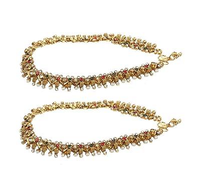Fußkettchen Modeschmuck Goldplated Barefoot Beach Ankle Indian Women Bridal Wedding Chain Anklet Jewelry