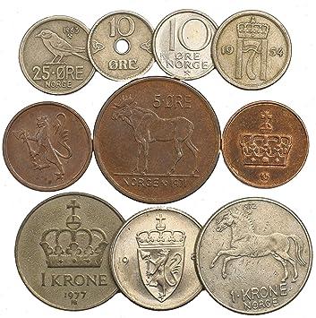 10 Monedas Antiguas de Noruega. Monedas coleccionables Mineral ...