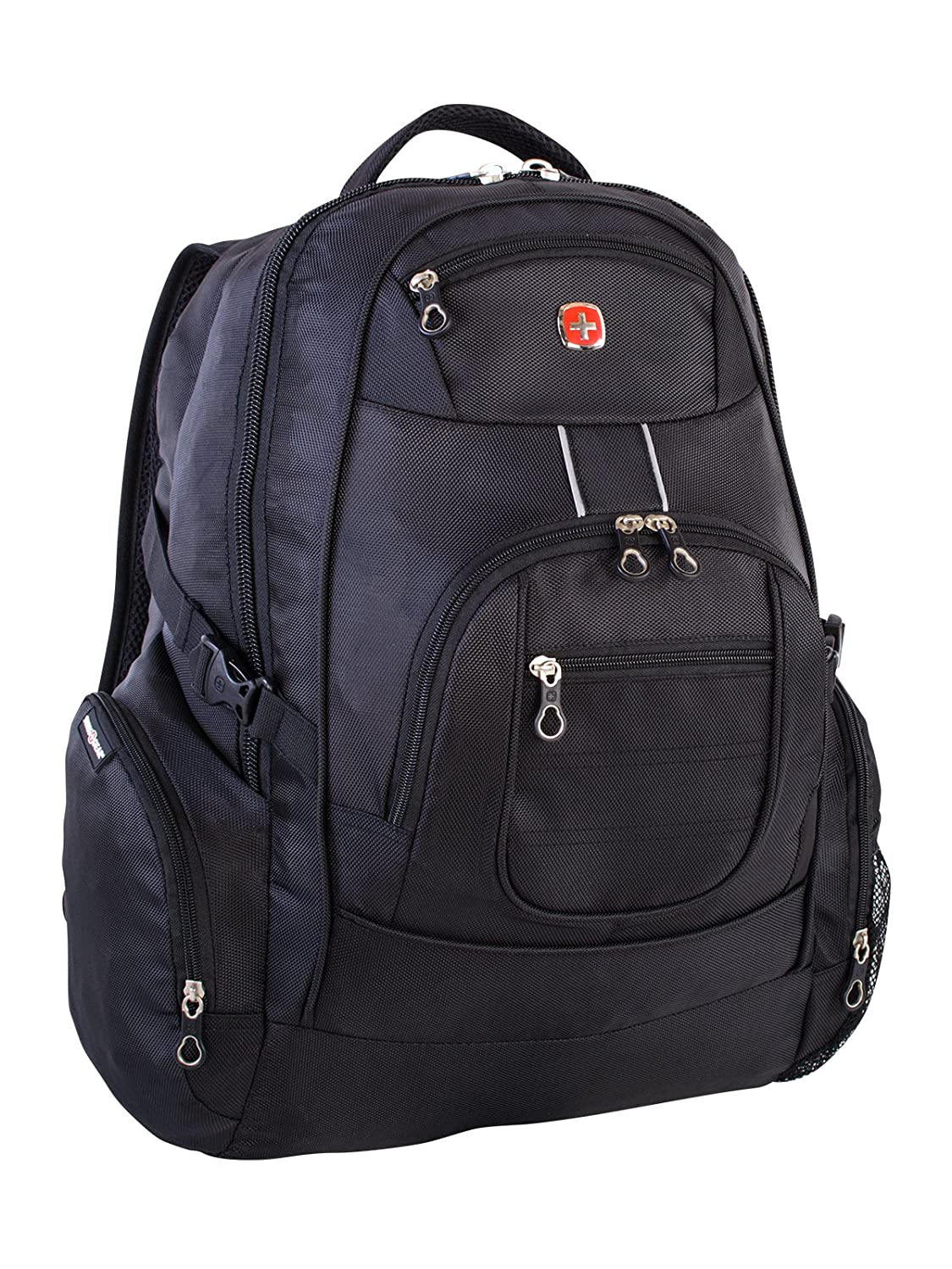 Swiss Gear International Carry-On Size Laptop Backpack - Holds Up to 17.3-Inch Laptop, Black Holiday Luggage SWA2449009