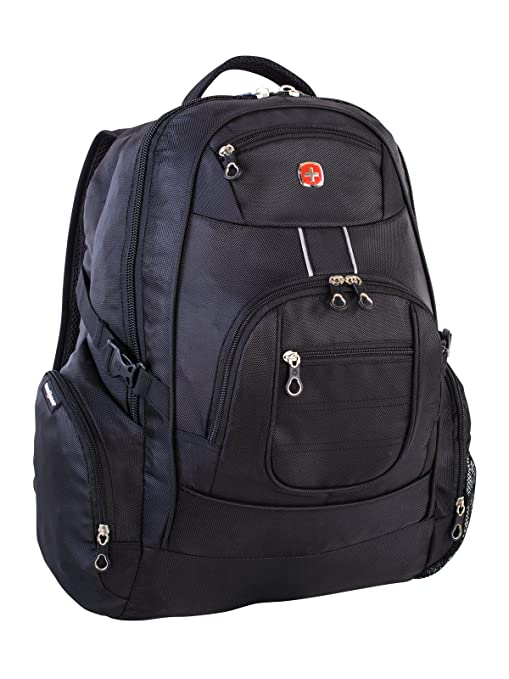 7096e378075f Swiss Gear International Carry-On Size Laptop Backpack - Holds Up to  17.3-Inch Laptop