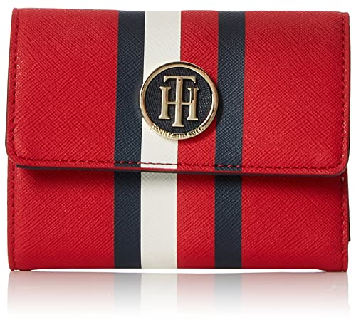 Tommy Hilfiger - Honey Med Flap Wallet, Carteras Mujer, Rojo (Red/Core