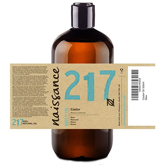 Naissance Aceite de Ricino 4 x 500ml - Puro, natural, vegano, sin hexano, no OGM - Hidrata y nutre el cabello, las cejas y las pestañas: Amazon.es: Belleza