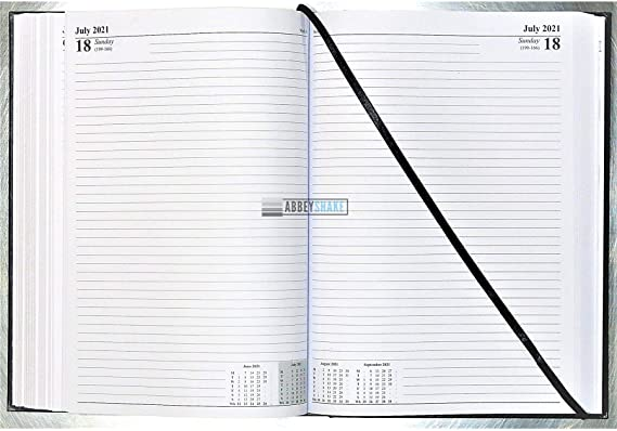 Color Black Ryman Diary 2 Days per Page A4 2021