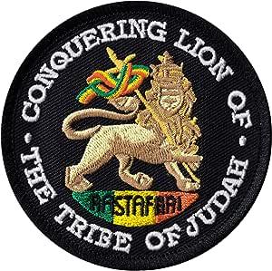 CONQUERING LION of JUDAH Bike Headset TOP CAP in BLACK RASTA RASTAFARI Painted