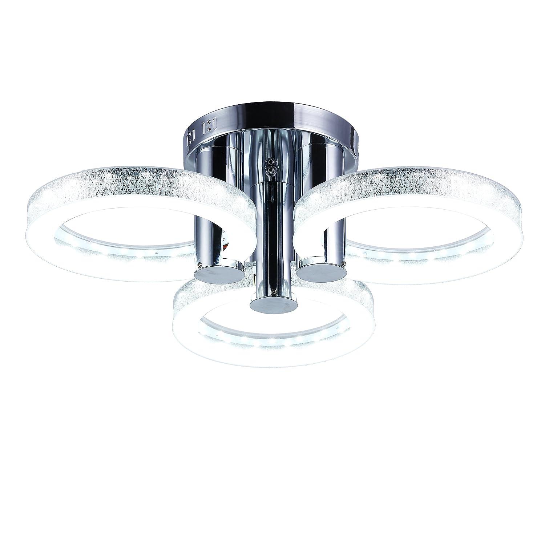 HomeLava 18W LED Deckenleuchte mit 3 Flammig für Wohnzimmer/Schlafzimmer / Hotel, Silber