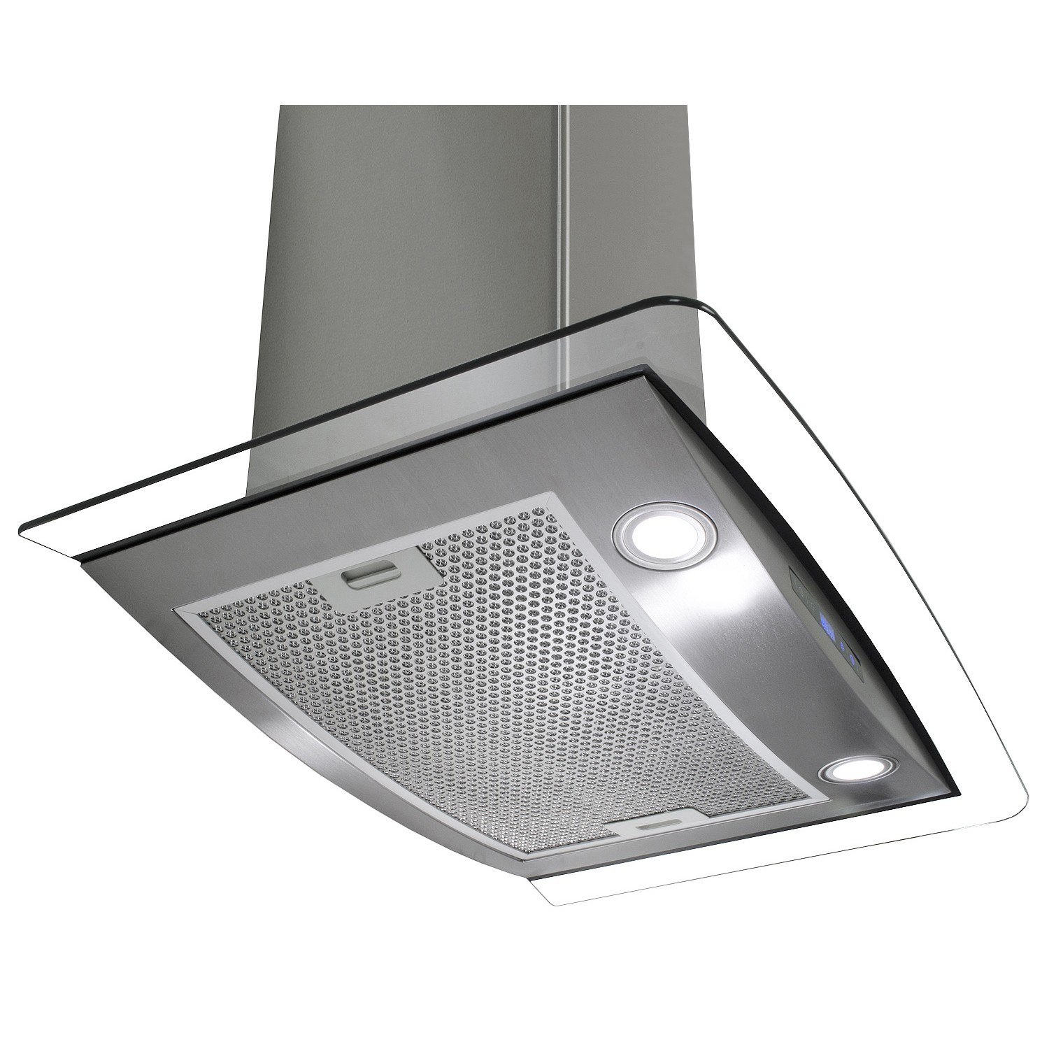 AKDY AWR88CS1430 30' Wall Mount Ducted Range Hood with 760 CFM Motor 3 Speed Fan Levels Touch Control Panel LED Lighting Dishwasher Safe Filter Curved Tempered Glass and Stainless Steel